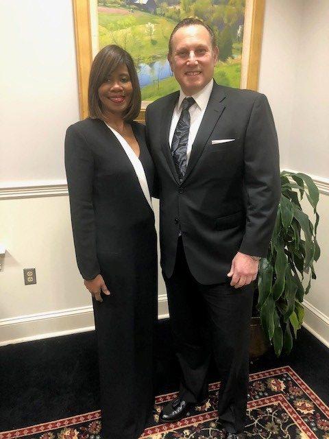 Levine with AMA President Patrice Harris-04